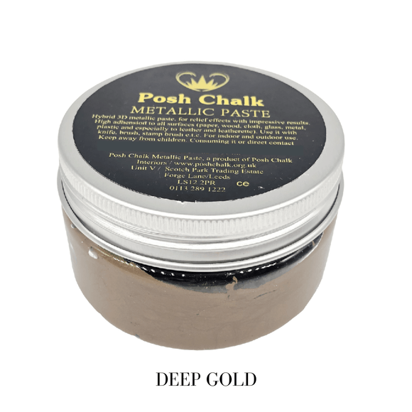Deep Gold Smooth Metallic Paste by Posh Chalk, Mixed Media
