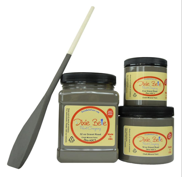 GRAVEL ROAD - Dixie Belle - Warm Dark Grey Chalk Mineral Paint - 236ml/8oz - 473ml/16oz - 946ml/32oz