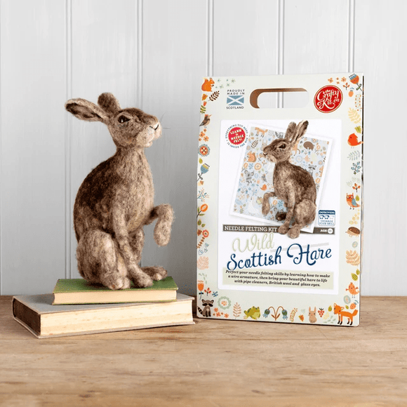 Wild Scottish Hare Needle Felting Kit - Finished Size Approx 28cm each