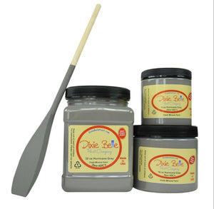 HURRICANE GRAY - Dixie Belle - Medium Grey Chalk Mineral Paint - 236ml/8oz - 473ml/16oz - 946ml/32oz