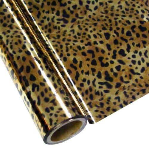 LEOPARD - Bronze - Rub On Metallic Foil by APS - Textile Friendly