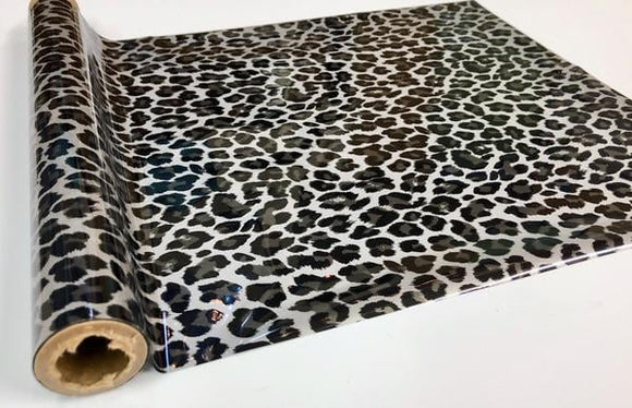 WILD LEOPARD LARGE SPOT - Silver- Rub On Metallic Foil by APS - Textile Friendly