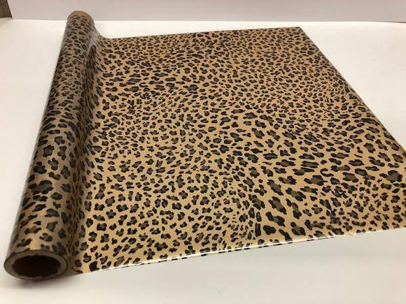 WILD LEOPARD SMALL SPOT - Gold - Rub On Metallic Foil by APS - Textile Friendly