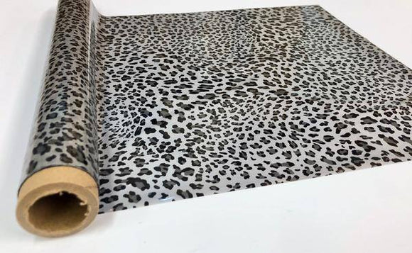 WILD LEOPARD SMALL SPOT - Silver- Rub On Metallic Foil by APS - Textile Friendly