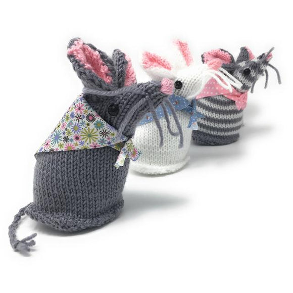 Mary Mouse & Friends Knitting Kit - Finished Size Approx 17cm each