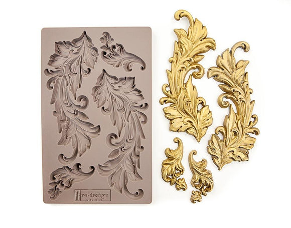 BAROQUE SWIRLS Decor Mould Re-Design with Prima 8