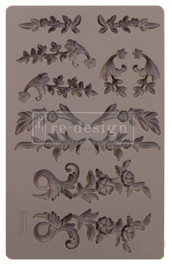 DELICATE FLORA Decor Mould Re-Design with Prima 8