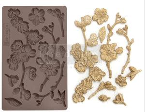 "CHERRY BLOSSOMS Decor Mould Re-Design with Prima 8"" x 5"""
