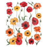 "POPPY GARDEN - 24"" X 31.3"" - Re-design Decor Transfer"