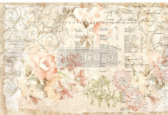 ReDesign with Prima Floral Parchment Decoupage Decor Tissue Paper