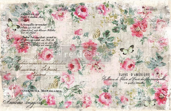 ReDesign with Prima Floral Wallpaper Decoupage Decor Tissue Paper