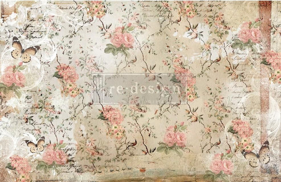 ReDesign with Prima Botanical Imprint Decoupage Decor Tissue Paper