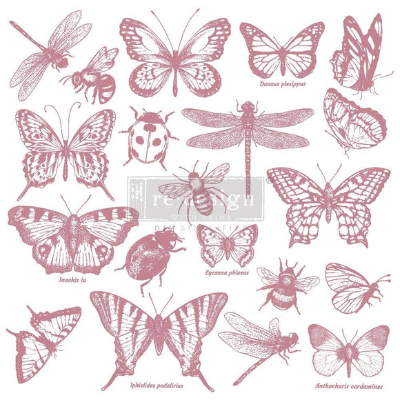 Monarch Collection Clear Cling Stamp ReDesign with Prima