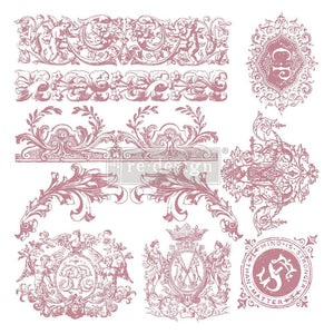 CLEAR CLING DECOR STAMP Chateau De Saverne - ReDesign with Prima - 10 piece