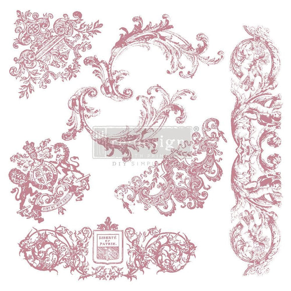 Chateau De Maisons Clear Cling Stamp ReDesign with Prima