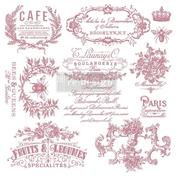 I See Paris Clear Cling Decor Stamp ReDesign with Prima