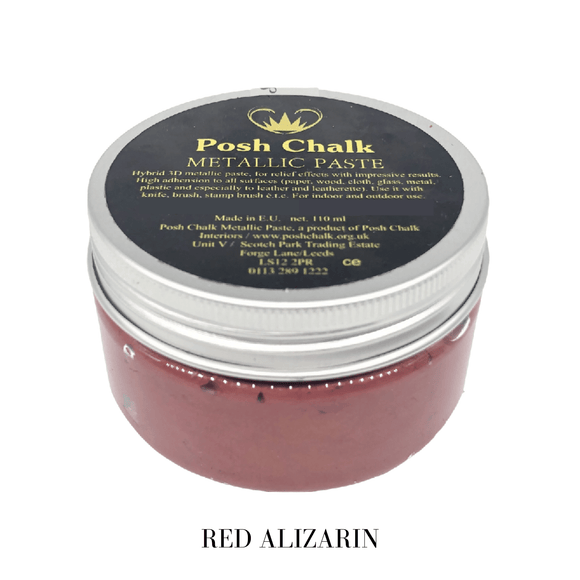 Red Alizarin Metallic Paste by Posh Chalk, Mixed Media