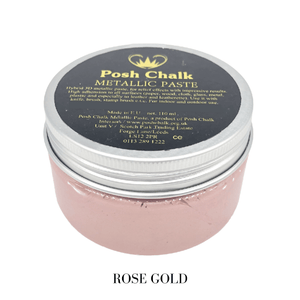 Rose Gold Metallic Paste by Posh Chalk, Mixed Media