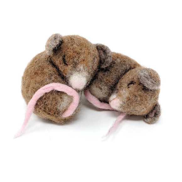 Sleepy Mice Needle Felting Kit - Finished Size Approx 10cm each