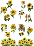 Sunflowers - Belles and Whistles Rub On Decor Transfer