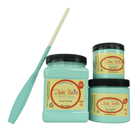 THE GULF - Dixie Belle -Soft Turquoise Chalk Mineral Paint - 236ml/8oz - 473ml/16oz