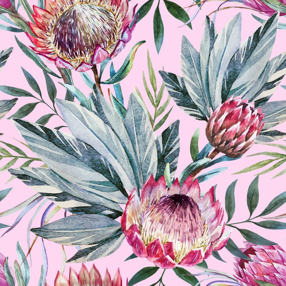 Tropical On Pink Decoupage Rice Paper Belles and Whistles by Dixie Belle