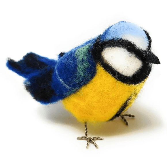 Blue Tit Needle Felting Kit - Finished Size Approx 13cm