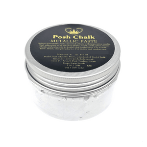 White Titanium Metallic Paste by Posh Chalk, Mixed Media
