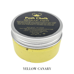 Yellow Canary Metallic Paste by Posh Chalk, Mixed Media