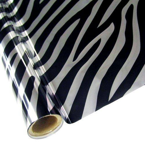 ZEBRA - Silver- Rub On Metallic Foil by APS - Textile Friendly