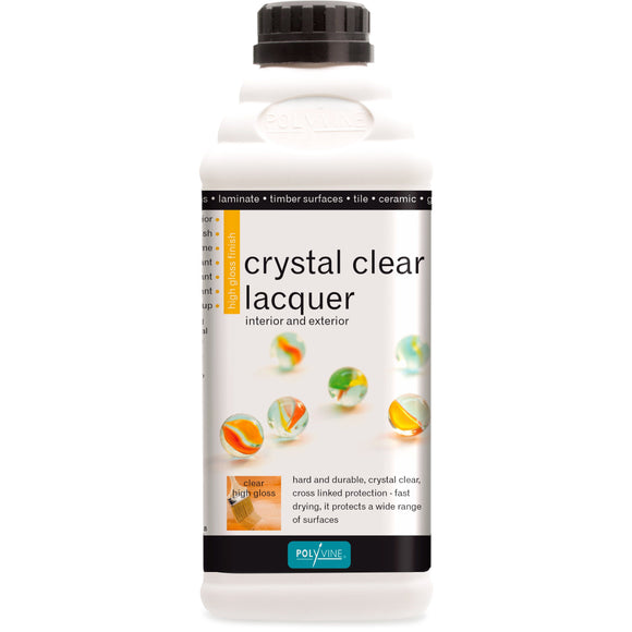Polyvine Crystal Clear Lacquer Gloss Finish