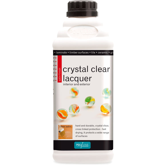 Polyvine Crystal Clear Lacquer Satin Finish