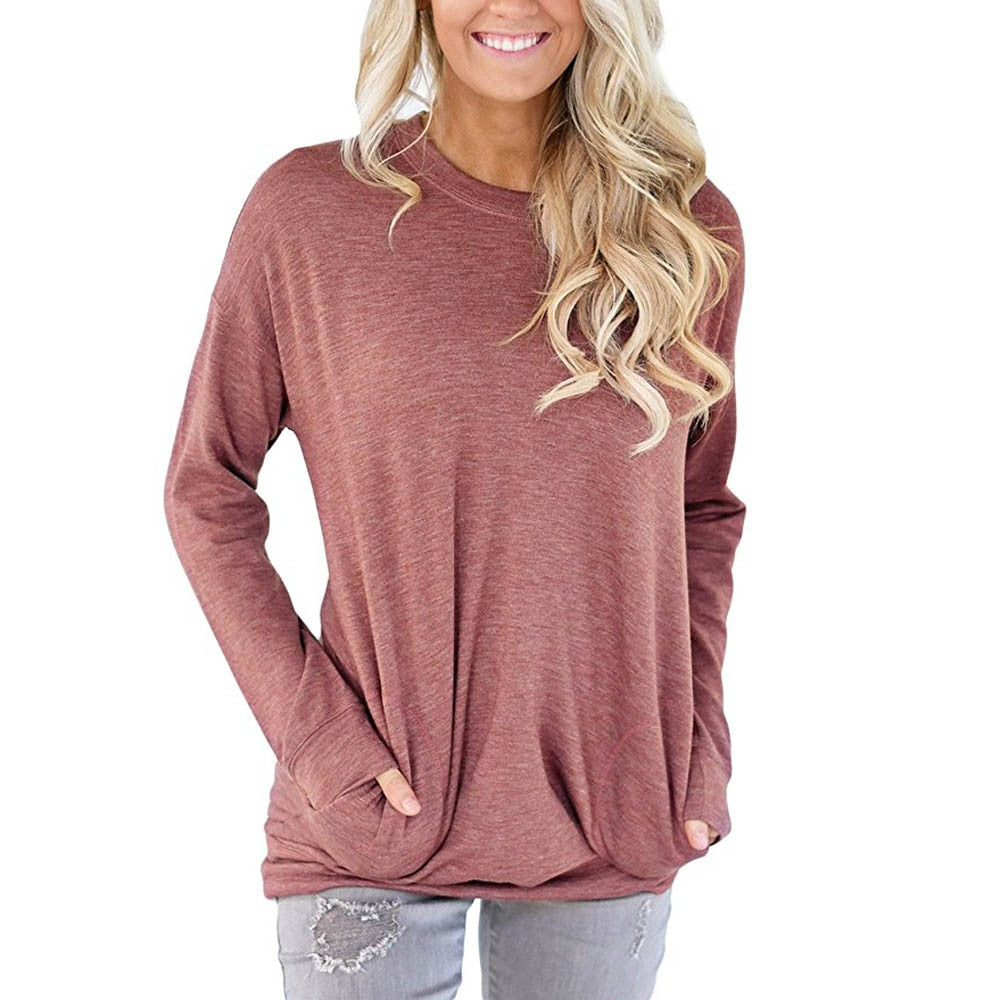 Women's Summer Pocket Long Sleeve Shirt