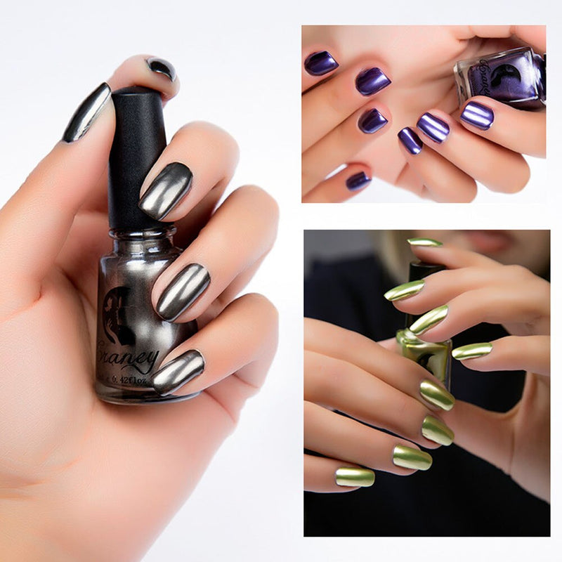 6ml Plating Silver Paste Metal Nail Polish