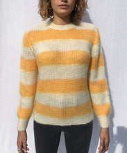 Load image into Gallery viewer, STRIPED CREWNECK MOHAIR SWEATER