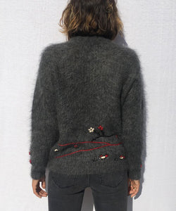 EMBROIDERY HANDMADE MOHAIR SWEATER