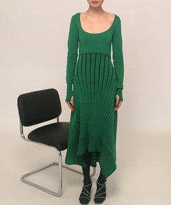EMERALD LONG SLEEVES DRESS pre-order