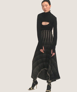 BLACK MIDI-DRESS pre-order