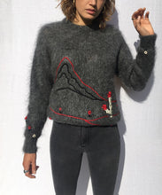 Load image into Gallery viewer, EMBROIDERY HANDMADE MOHAIR SWEATER