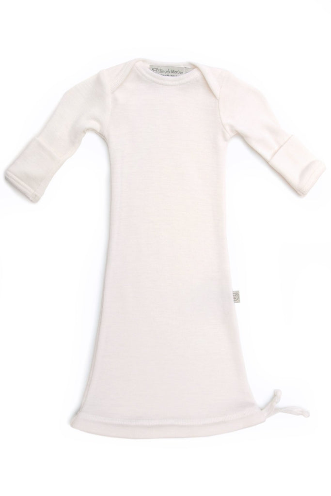 100% MERINO WOOL INFANT GOWN BABIES Simply Merino Clothing Co