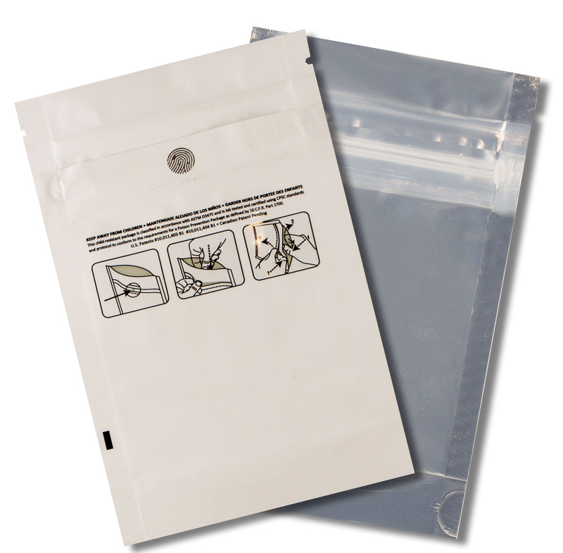 1/8 OZ Mylar Bags-10, White / Clear - (100 units) - CORONA CASH AND CARRY