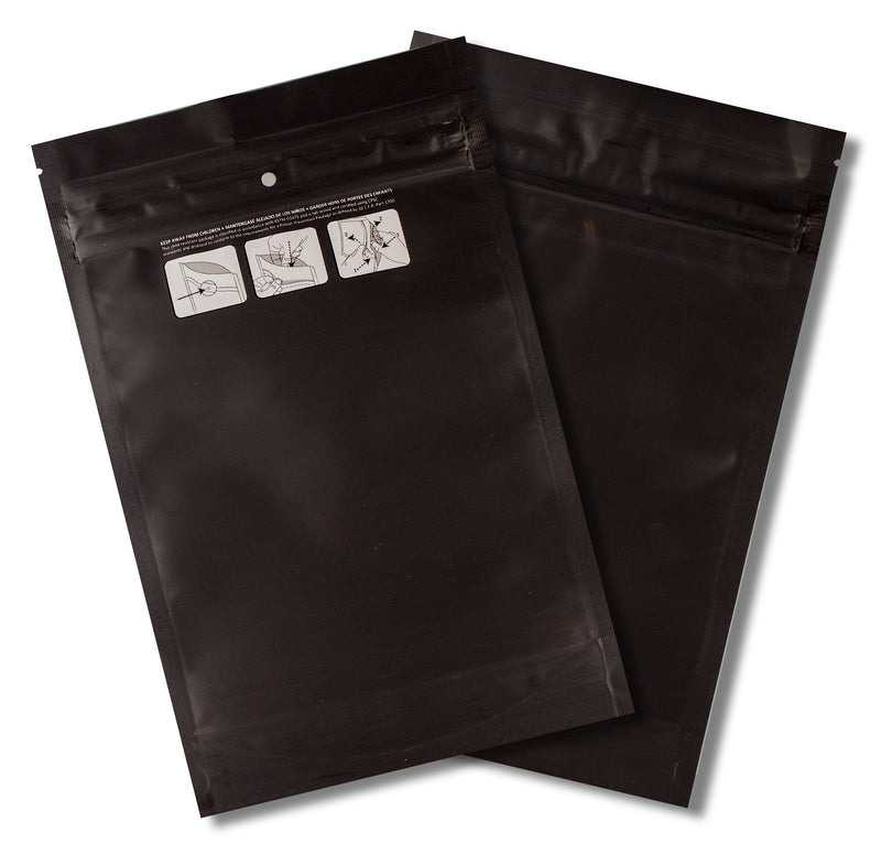 1 OZ Mylar Bags-20, Black / Black - (100 units) - CORONA CASH AND CARRY