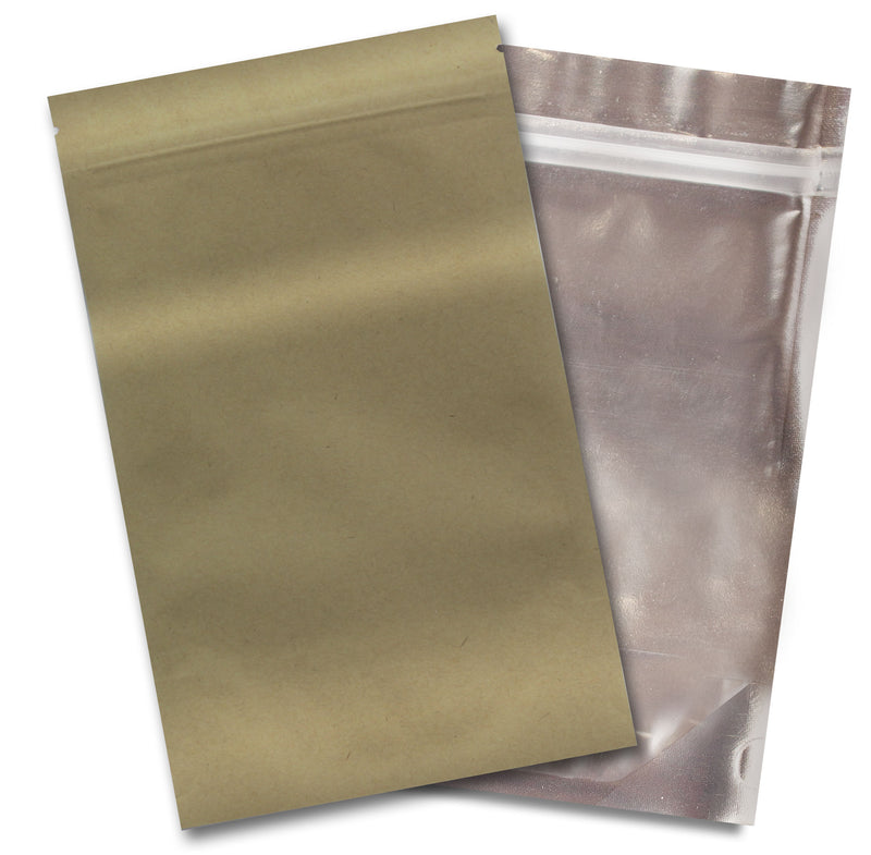 1/4 OZ Mylar Bags-24, Gold / Clear - (100 units) - CORONA CASH AND CARRY