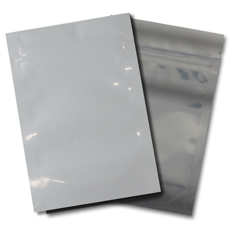 1/8th OZ Mylar Bags-08, White / Clear - (100 units) - CORONA CASH AND CARRY