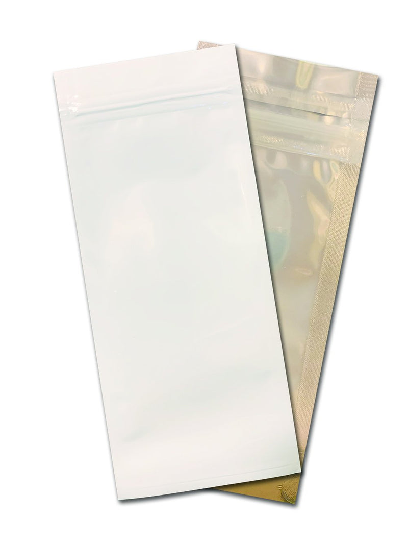 Syringe Mylar Bags-9, White / clear - (100 units) - CORONA CASH AND CARRY