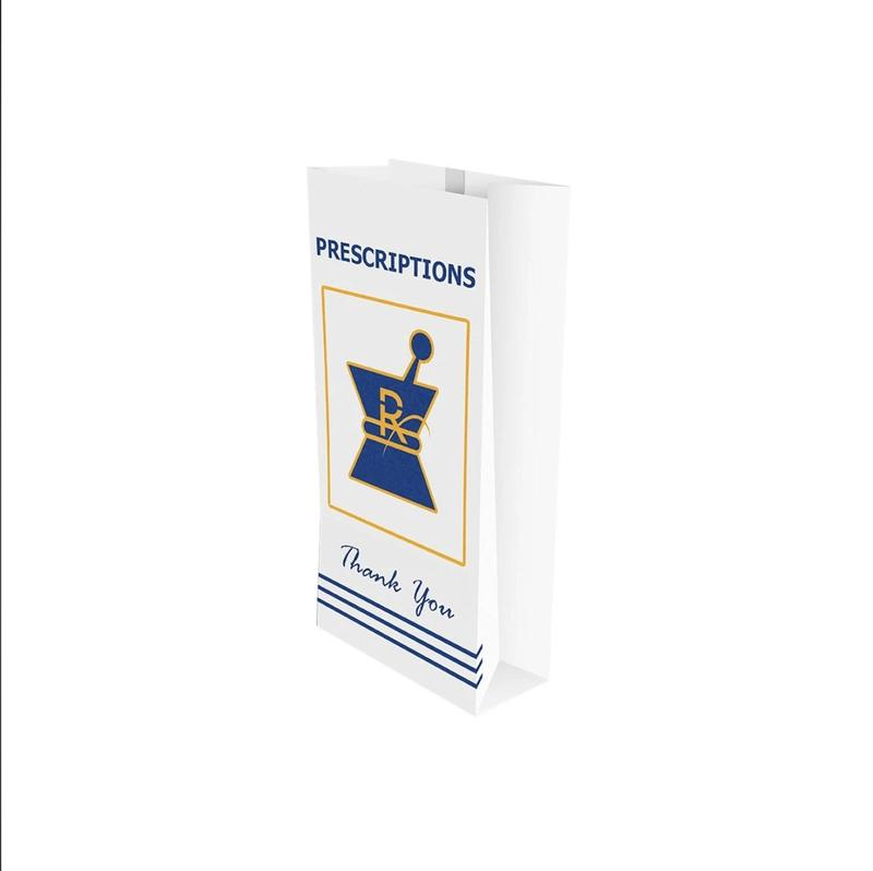 Kraft Pharmacy Prescription Bags (Multiple Sizes) - CORONA CASH AND CARRY