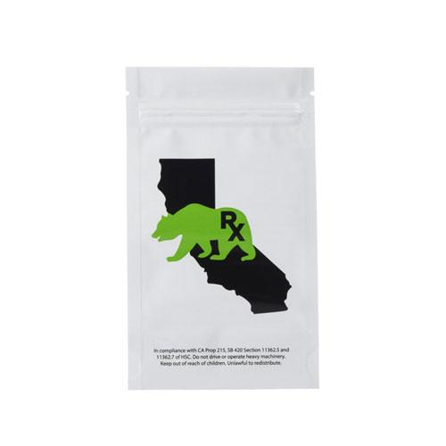 7g Mylar Barrier Bags, California Bear - (100 units) - CORONA CASH AND CARRY