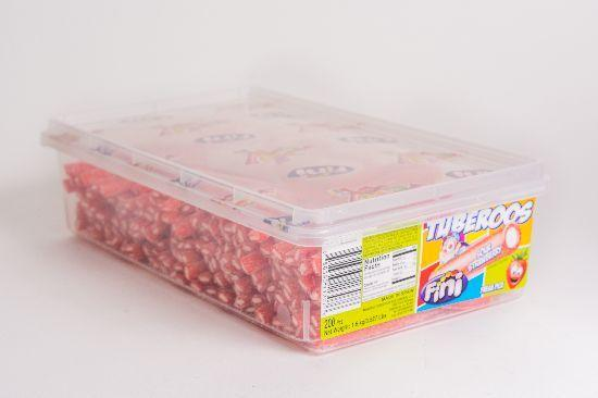 Tuberoos Candy - Sour Strawberry - 3.5lbs - CORONA CASH AND CARRY