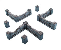 Concrete Barricade Walls (12 parts)