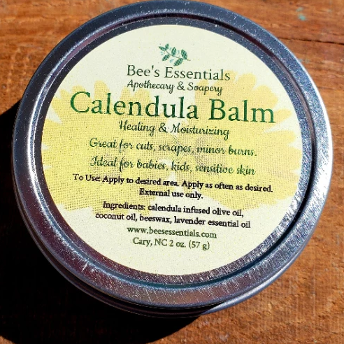 This gentle blend of calendula-infused organic olive oil and lavender essential oil create an all-purpose balm for even the most sensitive skin.